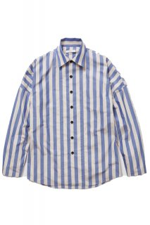 <img class='new_mark_img1' src='//img.shop-pro.jp/img/new/icons50.gif' style='border:none;display:inline;margin:0px;padding:0px;width:auto;' />RYOSHI STRIPE SHIRTS(BEIGE×BLUE STRIPE) -ETHOS- 16S/S