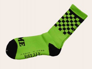 RUTSUBO Checker Socks(GREEN) -I&ME×坩堝-