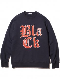 COLLEGE CREWNECK SWEATSHIRT(NAVY) -BLACK EYE PATCH- 16S/S