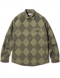 DIAMOND SHIRT(KHAKI) -BLACK EYE PATCH- 16S/S