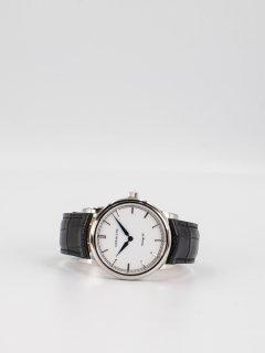 【CORNICHE】コーニッシュ The Heritage 40 シルバーケース ホワイトフェイス ブラックレザー 時計