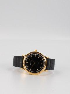 【CORNICHE】コーニッシュ The Heritage 36イエローゴールドケース ブラックフェイスブラックレザー 時計