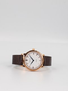 【CORNICHE】コーニッシュ The Heritage 36ローズゴールドケース ホワイトフェイスブラウンレザー 時計