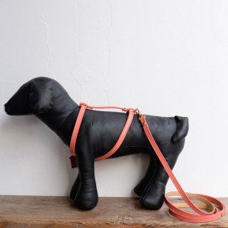 【BABA PARIS】 ババ パリ MADELEINE harness & leash コーラルオレンジ ハーネス