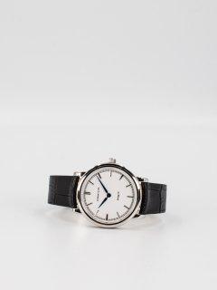 【CORNICHE】コーニッシュ The Heritage 36 シルバーケース ホワイトフェイス ブラックレザー 時計