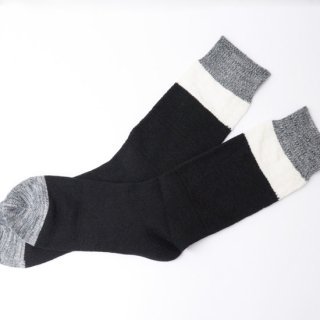 【N/A Necessary Anywhere】ネセサリーエニーウェア 靴下 ブラック/ホワイト