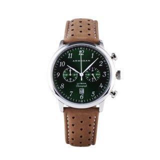 【ARMOGAN】アーモーガン LE MANS – EMERALD GREEN C51 クロノグラフ 時計
