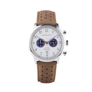 【ARMOGAN】アーモーガン LE MANS – SILVERED WHITE S82 クロノグラフ 時計