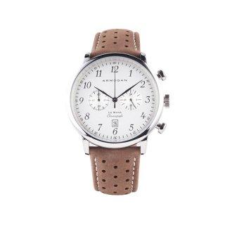 【ARMOGAN】アーモーガン LE MANS – SILVERED WHITE C81 クロノグラフ 時計