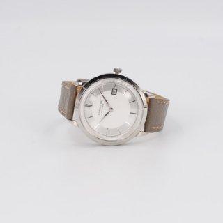 【CORNICHE】コーニッシュ Historique シルバーケース ホワイト&シルバーダイアル トープグレーレザー 時計