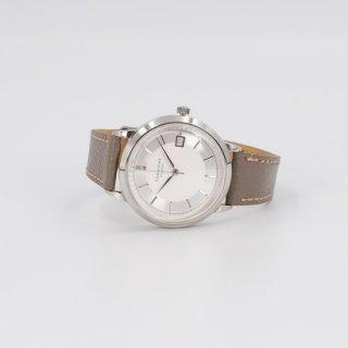 【CORNICHE】コーニッシュ Historique  Automaticシルバーケース ホワイト&シルバーダイアル トープグレーレザー 時計