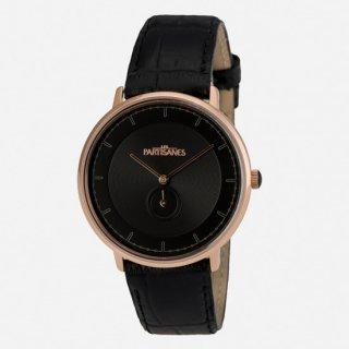 【LES PARTISANES】レ・パルチザンL'Amoureuse ROSE GOLD クロコ型押しレザー/ ローズゴールドスイスムーブメント時計