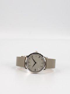 【CORNICHE】コーニッシュ The Heritage 36シルバーケース トープダイアルトープグレーレザー 時計