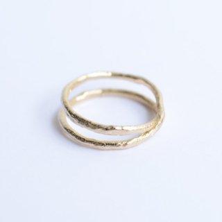 【PEARLS BEFORE SWINE】パールズビフォースワインダブルクロスオーバーリング  14k 指輪