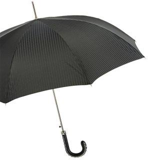 【Pasotti】パソッティ 傘  スタッズレザーハンドルアンブレラ  ブラック