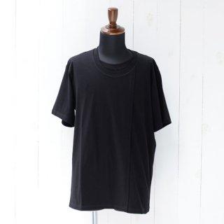 【KAZUKI NAGAYAMA】カズキナガヤマ レイヤードTシャツ ブラック
