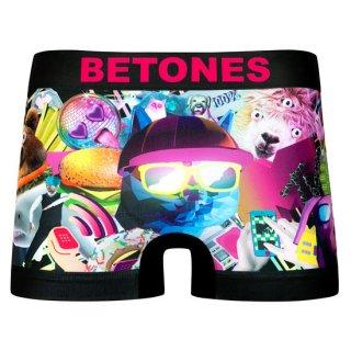 【BETONES】ビトーンズ×MTV  ボクサーパンツ ブラック【メンズ】