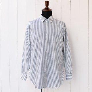 【wegenk】×【scylt】ウィジェンク×シルト レギュラーカラーシャツ グリーンストライプ