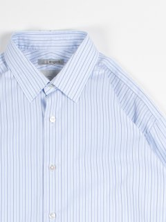 【wegenk】×【scylt】ウィジェンク×シルト レギュラーカラーシャツ サックスストライプ