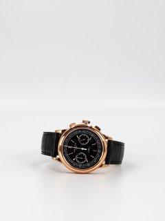 【CORNICHE】コーニッシュ Heritage Chronograph ローズゴールドケース ブラックダイアル ブラックレザー 時計