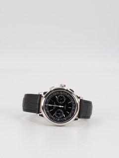 【CORNICHE】コーニッシュ Heritage Chronograph シルバーケース ブラックダイアル ブラックレザー 時計