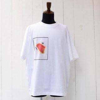【Nobuyuki Matsui 】 ノブユキマツイ クルーネックプリントTシャツ ホワイト
