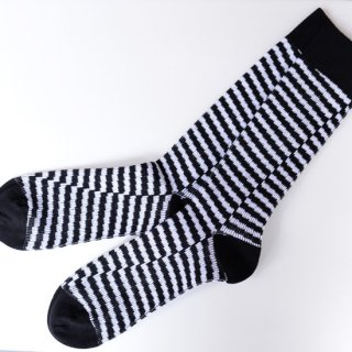 【N/A Necessary Anywhere】ネセサリーエニーウェア 靴下 ブラック ボーダー