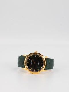 【CORNICHE】コーニッシュ The Heritage 40 イエローゴールドケース グリーンダイアル グリーンレザー 時計