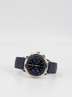 【CORNICHE】コーニッシュ Heritage Chronograph シルバーケース ブルーダイアル ネイビーブルーレザー 時計