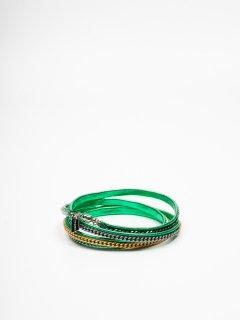 【VITA FEDE】ヴィタフェデ CAPRI 5 Wrap レザーブレスレット5連ブレスレット グリーン