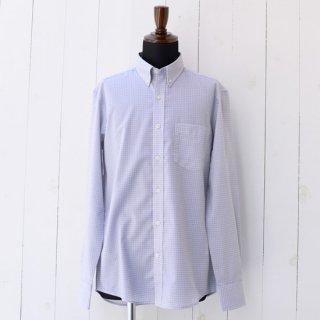 【Wool&Prince】ウール&プリンス ボタンダウンカラーシャツ グレーチェック スリムフィット