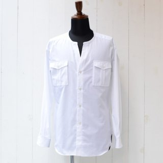 【wegenk】×【scylt】ウィジェンク×シルト ノーカラーシャツ ホワイト
