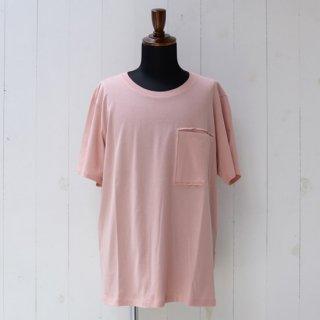 【KAZUKI NAGAYAMA】カズキナガヤマ カットアウトポケットTシャツ モスピンク