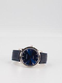 【CORNICHE】コーニッシュ The Heritage 40 シルバーケース ブルーダイアル ブルーレザー 時計