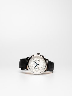 【CORNICHE】コーニッシュ Heritage Chronograph シルバーケース ホワイトダイアル ブラックレザー 時計