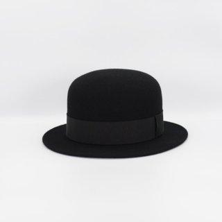 DF TOKYO別注【H.at BLACK LABEL】エイチエーティーブラックレーベル ボーラーハットウールフェルト