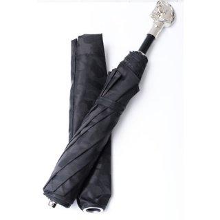 【Pasotti】パソッティ 折りたたみ傘 シルバーホースブラックカモフラージュ 馬
