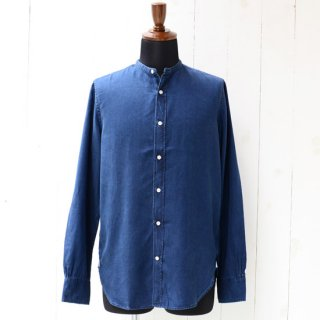 【Officine Generale】オフィシンジェネラル バンドカラーシャツ インディゴブルー