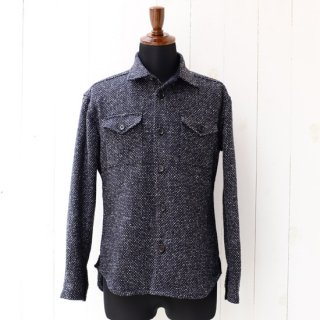 【wegenk】×【scylt】ウィジェンク×シルト ツイードシャツ LINTON ネイビー