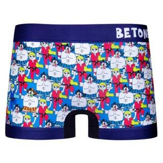 【BETONES】ビトーンズ STREET FIGHTER2 ブルー ボクサーパンツ  【メンズ】
