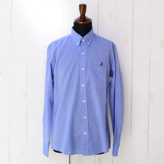 【Wool&Prince】ウール&プリンス ボタンダウンシャツ ブルー 刺繍入り