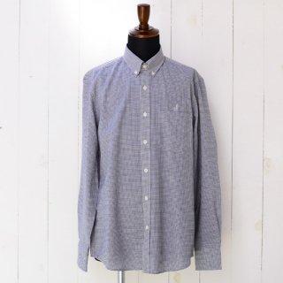 【Wool&Prince】ウール&プリンス ボタンダウンシャツ ネイビーチェック 刺繍入り