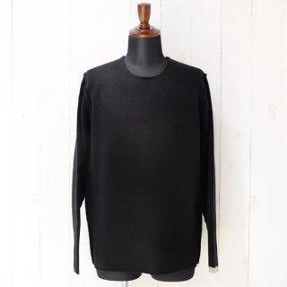 【Nahyat】ナヤット ハンドステッチラムウールセーター ブラック DF TOKYO別注