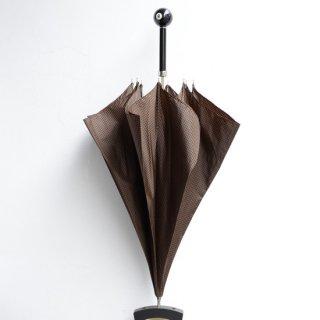 【Pasotti】パソッティ 傘  ビリヤード8ボールアンブレラ  ブラウン千鳥
