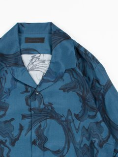 【Nobuyuki Matsui 】 ノブユキマツイ イタリアンカラーシャツ ネイビー