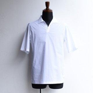 【Officine Generale】オフィシンジェネラル オープンネックラインショートスリーブシャツ ホワイト