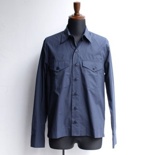 【Officine Generale】オフィシンジェネラル ダブルポケットシャツ ネイビー
