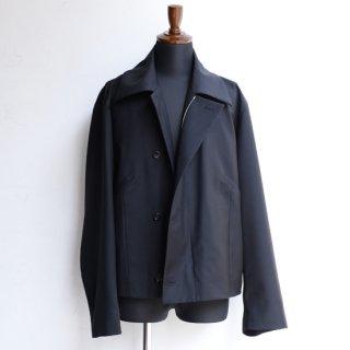 【KAZUKI NAGAYAMA】カズキナガヤマ ウールモヘヤミリタリージャケット ブラック
