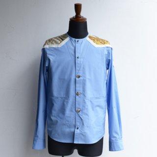 DF TOKYO別注仕様【masao shimizu】 マサオシミズ ベストインシャツ ブルー×ヴィンテージエルメス サイズ2-1