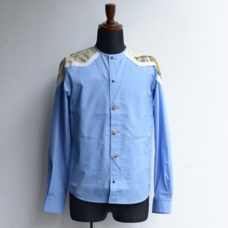 DF TOKYO別注仕様【masao shimizu】 マサオシミズ ベストインシャツ ブルー×ヴィンテージエルメス サイズ2-2